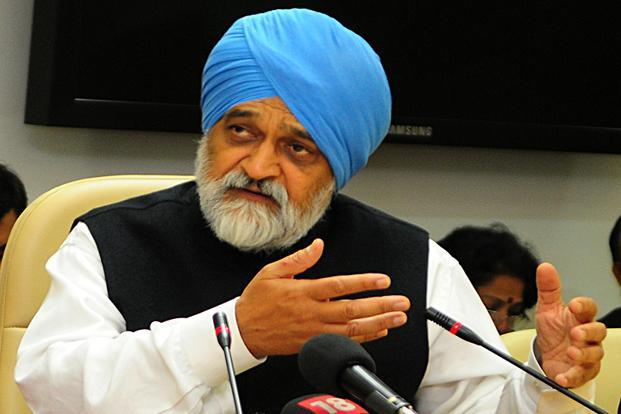 Planning commission deputy chairman Montek Singh Ahluwalia defended the scaled down launch of the ambitious scheme. Photo: Ramesh Pathania