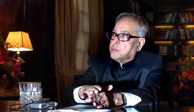 A file photo of President Pranab Mukherjee. In a break from tradition because this is its centennial year, President Mukherjee will open the Congress. Photo: Hindustan Times