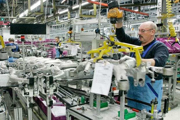 A file photo of an auto plant in Germany. Photo: AFP