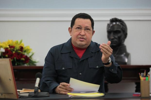 A file photo of Venezuelan President Hugo Chavez in Caracas, Venezuela. Chavez is supposed to be sworn in on 10 January, but that seemed in jeopardy on Tuesday, stoking the prospect of major upheaval in a nation that has the world's largest proven oil reserves. Photo: AFP