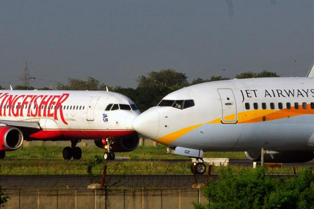 Shares of Kingfisher Airlines Ltd, which had been vying with Jet to win the Etihad investment, fell 2.6%. Photo: Ramesh Pathania/Mint