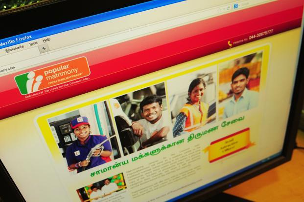 A screen shot of PopularMatrimony.com. The website in five months has attracted 7,000 profiles across its 17 outlets in Chennai where it is being piloted. Photo: Ramesh Pathania/Mint