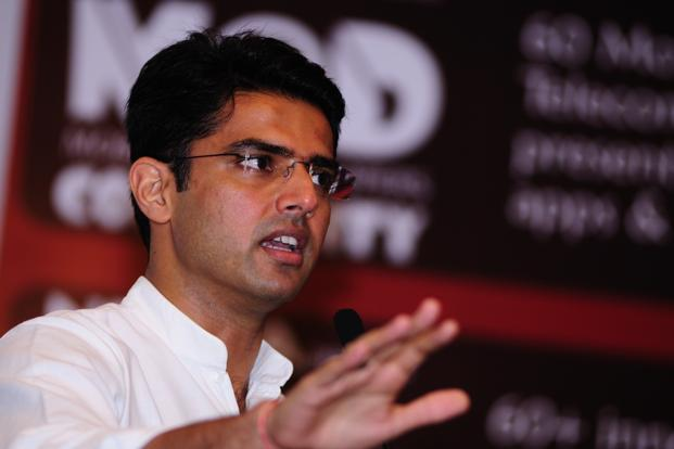 A file photo of minister of state for corporate affairs Sachin Pilot. Photo: Pradeep Gaur/Mint