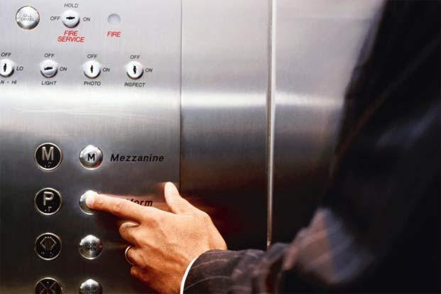 Being trapped inside an elevator can be a reminder of how little we have moved in our lives. Photo: Thinkstock