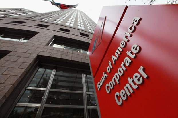 A file photo of The Bank of America corporate centre in Charlotte, North Carolina. Photo: Scott Olson/Getty Images/AFP