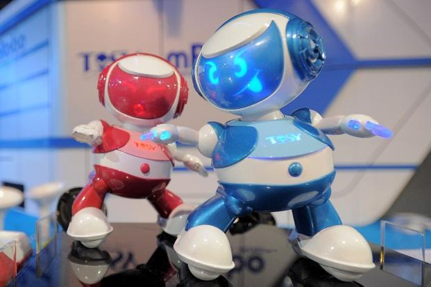 <b>Dancing Robots:</b> Vietnam&rsquo;s Tosy Disco Robots on display at the 2013 International Consumer Electronics Show (CES) at the Las Vegas Convention Center on 9 January in Las Vegas, Nevada. AFP
