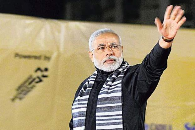 Modi writes his poems only in Gujarati. Photo: PTI