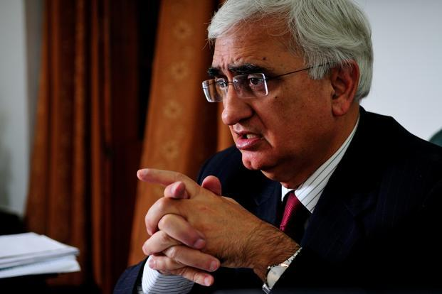 A file photo of external affairs minister Salman Khurshid. Photo: Priyanka Parashar