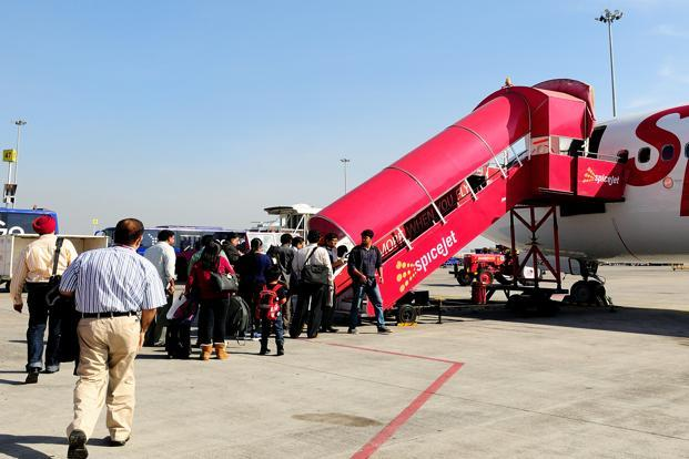 SpiceJet said it was offering one million seats at an all-inclusive fare of `2,013 for any domestic flight between 1 February and 30 April booked till 13 January Photo: Priyanka Parashar/Mint