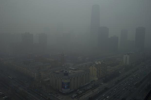 Data released via the US embassy twitter feed showed that Beijing's air quality index levels were so hazardous that they were classed as 'Beyond Index'. AP