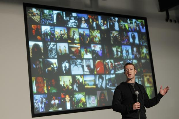 Facebook chief executive Mark Zuckerberg speaks during a media event at the company's headquarters in Menlo Park, California, on Tuesday. Photo: Robert Galbraith/ Reuters