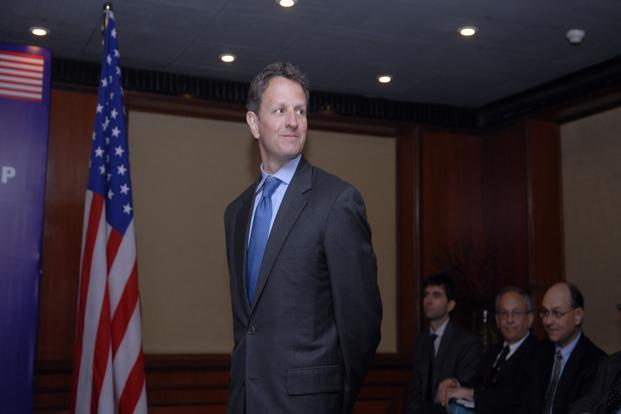 US treasury secretary Timothy Geithner. Photo: Ramesh Pathania/Mint