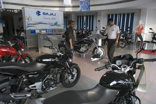 Bajaj said sales of three-wheelers and motorcycles in the quarter rose 5%. Photo: Hindustan Times