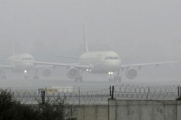 A file photo of planes waiting for take-off at Delhi Airport. Photo: Vipin Kumar/Hindustan Times