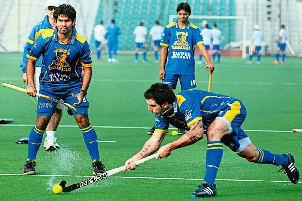 Jaypee Punjab Warriors during a practice session in Delhi. Photo: Vijay Verma/PTI.