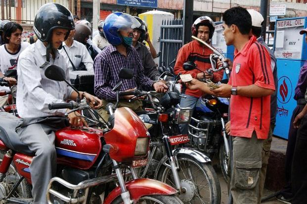 Nepal Oil Corp (NOC) is plagued by insufficient storage capacity, poor transport network, creating frequent fuel shortages and long queues at petrol pumps. Photo: AFP