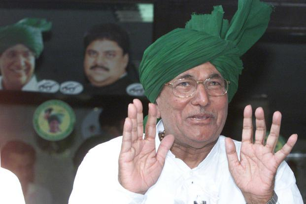 A file photo of former Haryana chief minister Om Prakash Chautala. Photo: PTI