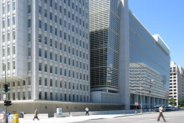 A file photo of the World Bank headquarters in Washington, DC.