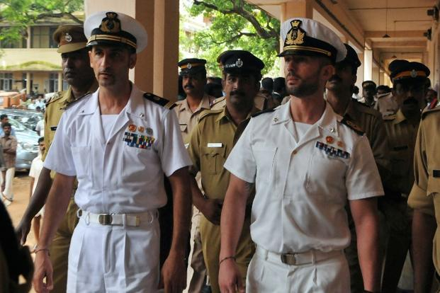 A file photo of Italian marines Latore Massimiliano and Salvatore Girone.Photo: AFP