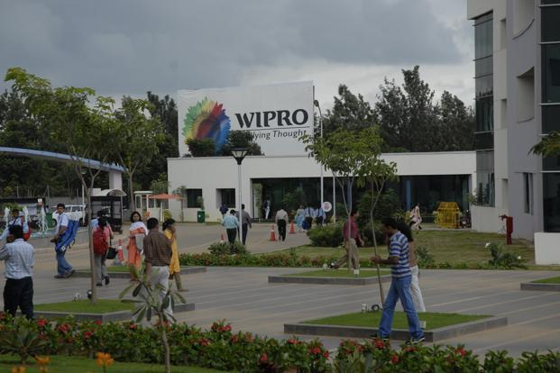 The Wipro stock on the BSE was trading at `433.80, up 3.27% at 10.26am on Thursday. Photo: Hemant Mishra/Mint