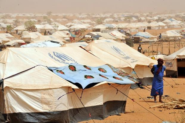 A file photo of Mbere refugee camp, near Bassiknou, 60 km from the border with Mali. Up to 700,000 people are expected to be uprooted by the violence in Mali in the coming months, UNHCR said on Friday. Photo: AFP