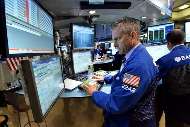 The Dow Jones industrial average was up 84.79 points, or 0.63%, at 13,596.02. The Standard & Poor's 500 Index was up 8.31 points, or 0.56%, at 1,480.94. Photo: AFP
