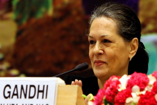 A file photo of the Congress president Sonia Gandhi. Photo: Hindustan Times