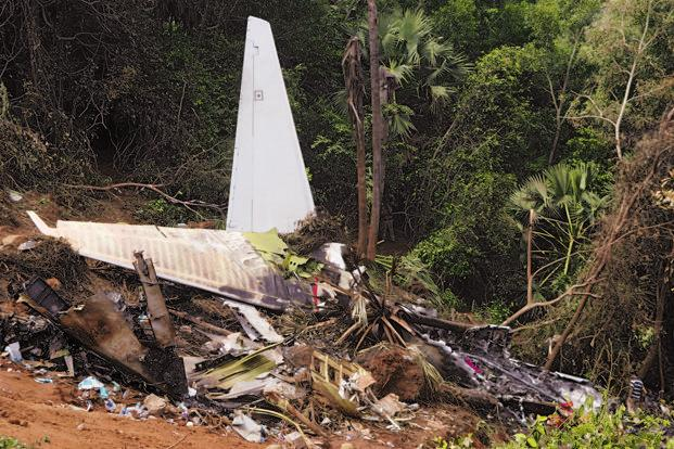A file photo of the wreckage of the Mangalore air crash. Photo: Hemant Mishra/Mint