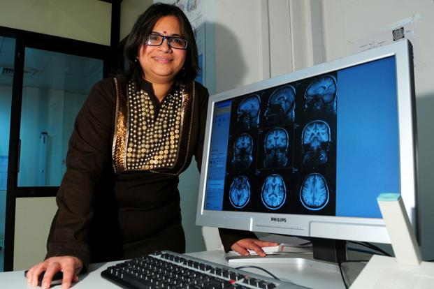 Nandini Chatterjee Singh of the National Brain Research Centre has co-authored a research paper on Romanagri that will be published in the journal 'Brain and Language'. Photo: Ramesh Pathania/Mint