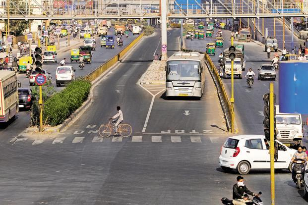 Although traffic congestion in Ahmedabad has risen in recent times, it's lower than in other major metropolises, due to both the extensive road network and increased public transport facilities. Photo: Pradeep Gaur/Mint