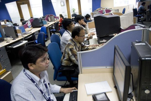 A view of the Genpact centre in Gurgaon near New Delhi. In India total employment grew by just 2.7 million from 2004-05 to 2009-10, compared with over 60 million during the previous five-year period 1999-2000 to 2004-05. HT