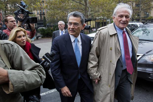 Rajat Gupta (centre). Photo: AP