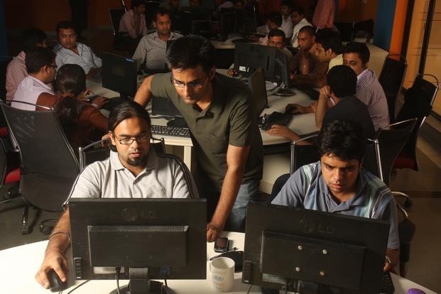 India's top 10 software services exporters will hire around 150,000 engineers this year compared with around 200,000 last year and some 400,000 during 2006-2007. Photo: Hindustan Times