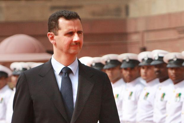 A file photo of Syrian President Bashar al-Assad. Photo: Hindustan Times