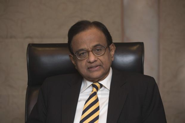 A file photo of finance minister P. Chidamabram. Photo: Reuters