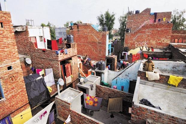 Concrete houses in Mangolpuri, New Delhi. Photo: Ramesh Pathania/Mint