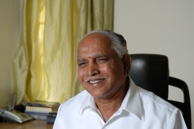 Former Karnataka chief minister B. S. Yeddyurappa said the government had been reduced to a minority and had no moral right to continue in office. Photo: Hemant Mishra/ Mint