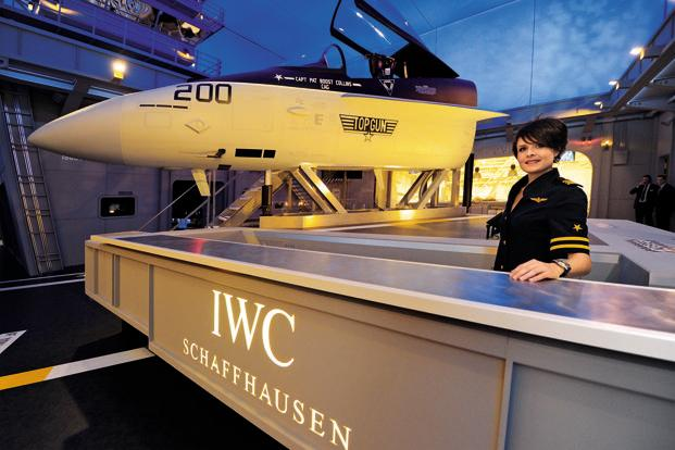 A file photo of the IWC booth at SIHH 2012.