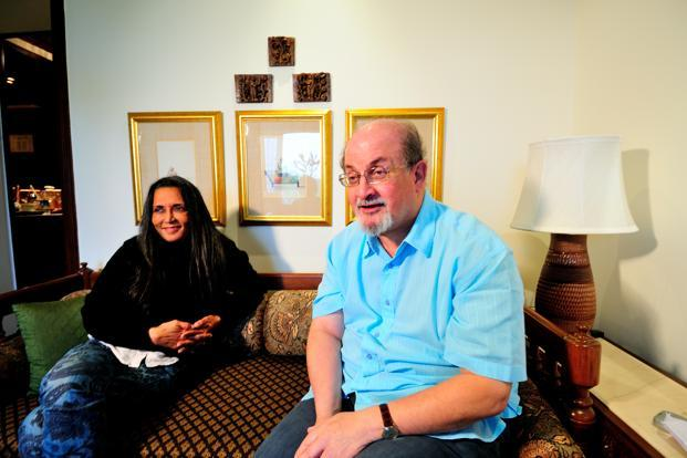 Author Salman Rushdie and filmmaker Deepa Mehta during an interview in New Delhi. Photo: Priyanka Parashar/Mint