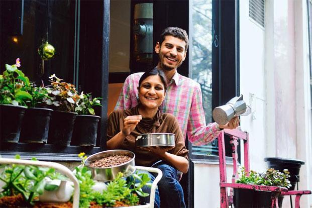 Namrata Asthana and Matt Chitharanjan at the Edward's Sandwich Bar, Deli and Artisanal Food Shop in New Delhi. Photo: Priyanka Parashar/Mint.
