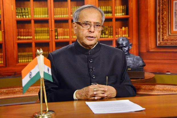 President Pranab Mukherjee addressing the Nation on the eve of the 64th Republic Day, in New Delhi on Friday. Photo: PIB