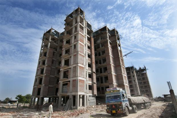 Banks had total outstanding loans of about `1.2 trillion to commercial real estate companies as of November. Photo: Ramesh Pathania/Mint