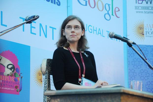 Madeline Miller at the Jaipur Literature Festival. Photo: Mint.