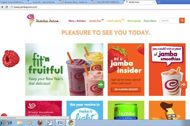 Jamba Juice, set up in 1990, positions itself as a fresh and healthy brand at affordable prices.