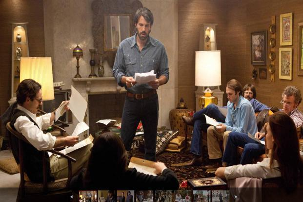 A still from the movie 'Argo'. Sunday's best ensemble cast win for 'Argo' was the film's second award in two days. The win boosts the thriller's chances of winning a best picture Oscar in a race that is considered wide open.