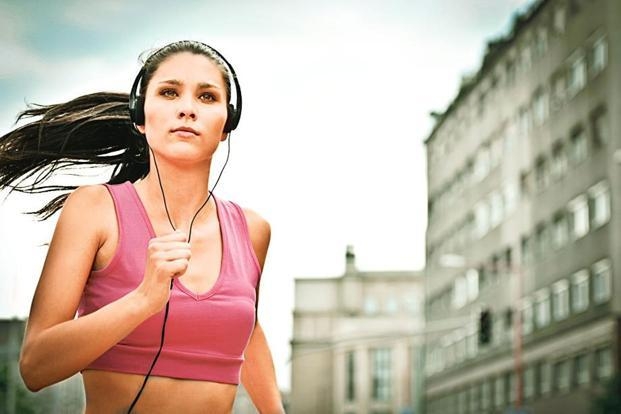 While running, your ears play the role of rear-view mirrors, never block them by listening to music.
