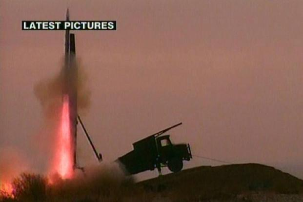 A 2010 image grab showing the launch of the Kavoshgar 3 (Explorer) satellite from an undisclosed location. Photo: AFP