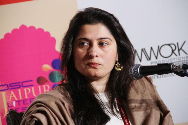Sharmeen Obaid Chinoy at the Jaipur Literature Festival. Photo: Mahesh Acharya