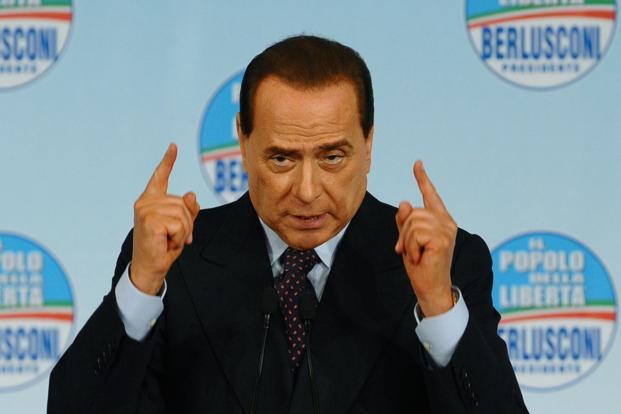 A file photo of former Italy premier and billionaire media tycoon Silvio Berlusconi. Berlusconi is angling for a return to politics in elections next month. Photo: AFP