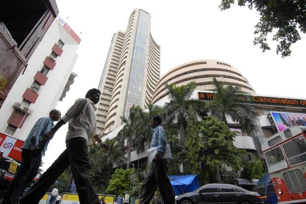 A file photo of the Bombay Stock Exchange. A drop in rate-sensitive stocks led the fall. Photo: Abhijit Bhatlekar/Mint
